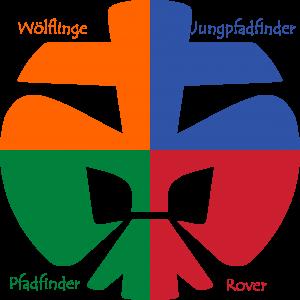 dpsg lilie in vier farben